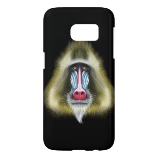 Illustrated portrait of Mandrill monkey. Samsung Galaxy S7 Case