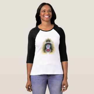 Illustrated portrait of Mandrill monkey. T-Shirt