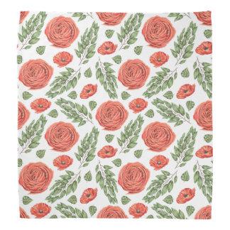 Illustrated Roses Floral Pattern Bandanas