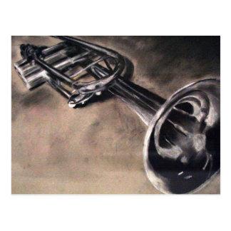 Illustrated Silver Trumpet Postcard