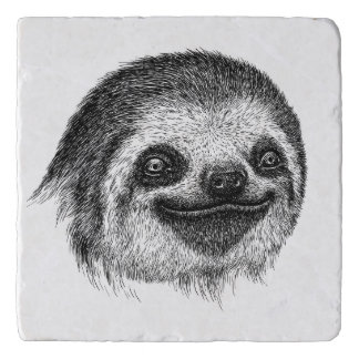 Illustrated Sloth Face Trivet