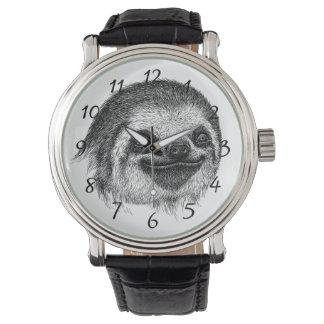 Illustrated Sloth Face Watch
