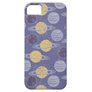Illustrated Space Pattern iPhone 5 Covers