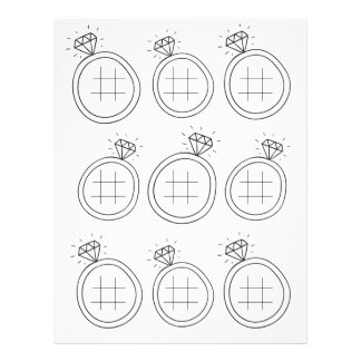 Illustrated Tic Tac Toe Wedding Activity Page