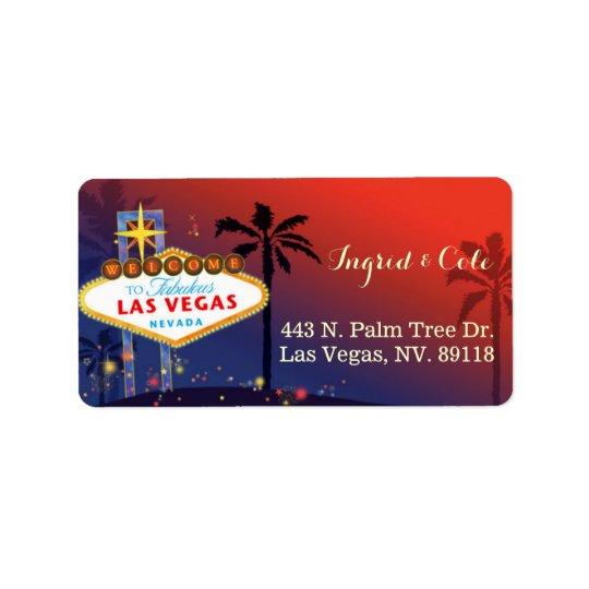 Illustrated Twilight Las Vegas Wedding