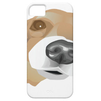 Illustrated vector portrait of a little dog case for the iPhone 5