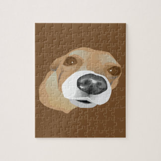 Illustrated vector portrait of a little dog jigsaw puzzle