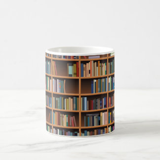 Illustrated Wide Bookshelf Coffee Mug