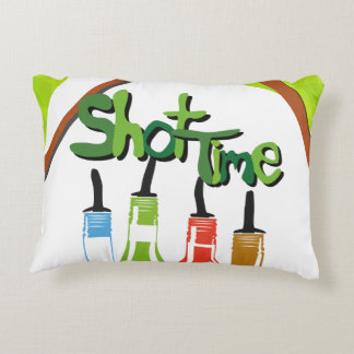 Illustration Alcohol bottles at a bar Accent Pillow