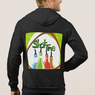 Illustration Alcohol bottles at a bar Hoodie
