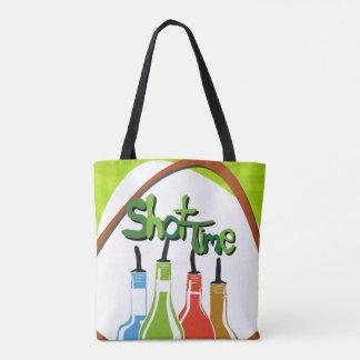 Illustration Alcohol bottles at a bar Tote Bag