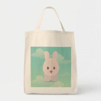 Illustration animale mignonne d'art de crèche de sac en toile épicerie