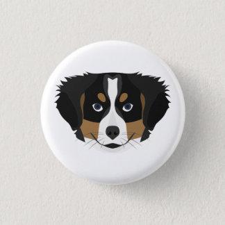 Illustration Bernese Mountain Dog 1 Inch Round Button