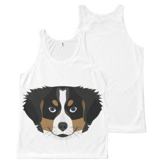 Illustration Bernese Mountain Dog All-Over-Print Tank Top