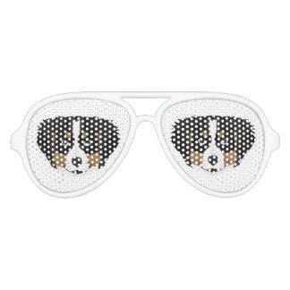 Illustration Bernese Mountain Dog Aviator Sunglasses
