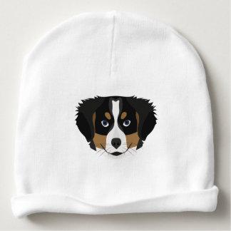 Illustration Bernese Mountain Dog Baby Beanie