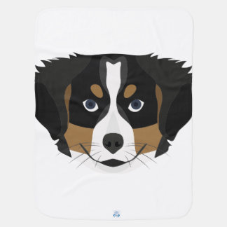 Illustration Bernese Mountain Dog Baby Blanket