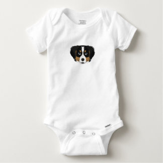 Illustration Bernese Mountain Dog Baby Onesie