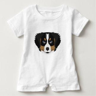 Illustration Bernese Mountain Dog Baby Romper
