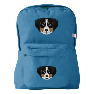 Illustration Bernese Mountain Dog Backpack
