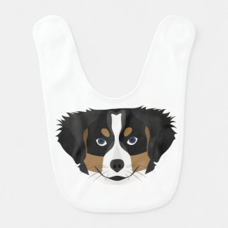 Illustration Bernese Mountain Dog Bib