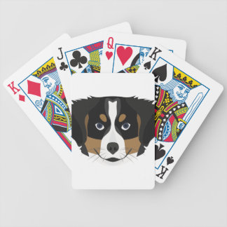 Illustration Bernese Mountain Dog Bicycle Playing Cards