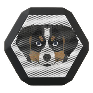 Illustration Bernese Mountain Dog Black Bluetooth Speaker