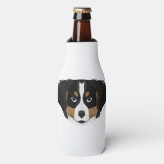 Illustration Bernese Mountain Dog Bottle Cooler