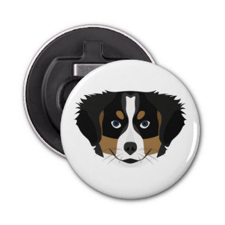 Illustration Bernese Mountain Dog Bottle Opener