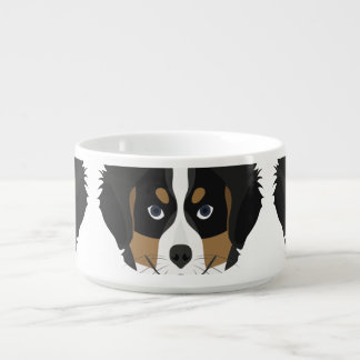 Illustration Bernese Mountain Dog Bowl