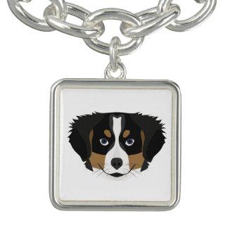 Illustration Bernese Mountain Dog Bracelets