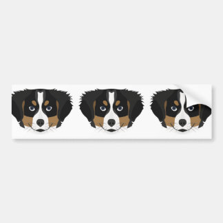 Illustration Bernese Mountain Dog Bumper Sticker