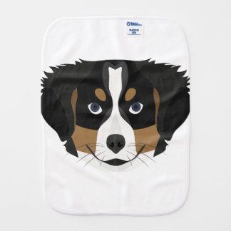 Illustration Bernese Mountain Dog Burp Cloth