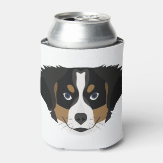 Illustration Bernese Mountain Dog Can Cooler