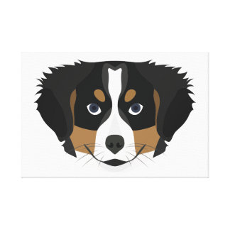 Illustration Bernese Mountain Dog Canvas Print