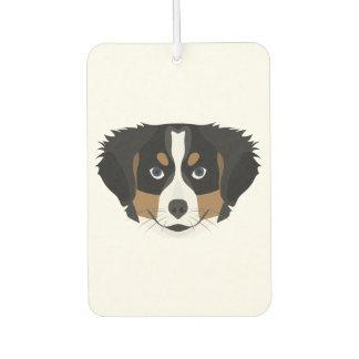 Illustration Bernese Mountain Dog Car Air Freshener