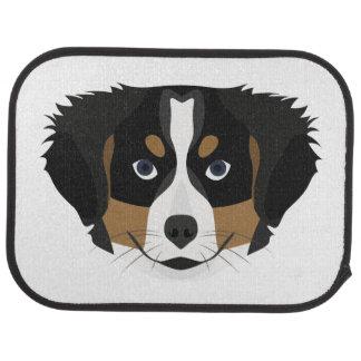 Illustration Bernese Mountain Dog Car Mat
