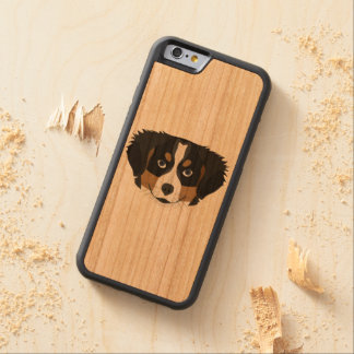 Illustration Bernese Mountain Dog Carved Cherry iPhone 6 Bumper Case