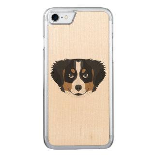 Illustration Bernese Mountain Dog Carved iPhone 8/7 Case