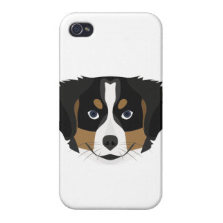 Illustration Bernese Mountain Dog Cases For iPhone 4