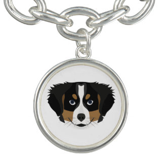 Illustration Bernese Mountain Dog Charm Bracelet
