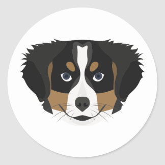 Illustration Bernese Mountain Dog Classic Round Sticker