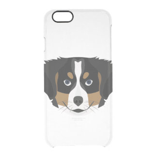 Illustration Bernese Mountain Dog Clear iPhone 6/6S Case