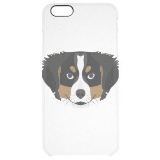 Illustration Bernese Mountain Dog Clear iPhone 6 Plus Case