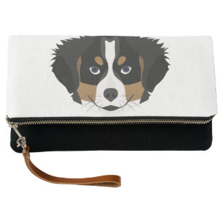 Illustration Bernese Mountain Dog Clutch