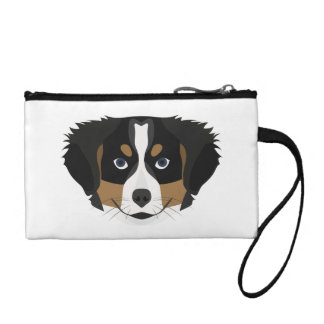 Illustration Bernese Mountain Dog Coin Purse