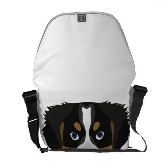 Illustration Bernese Mountain Dog Commuter Bags