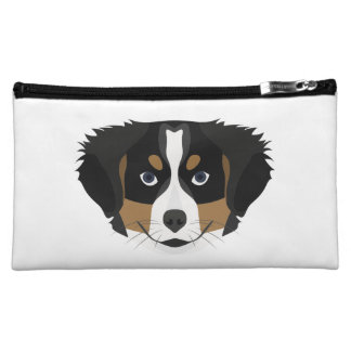 Illustration Bernese Mountain Dog Cosmetic Bag