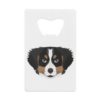 Illustration Bernese Mountain Dog Credit Card Bottle Opener