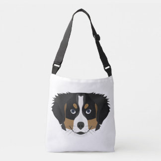 Illustration Bernese Mountain Dog Crossbody Bag